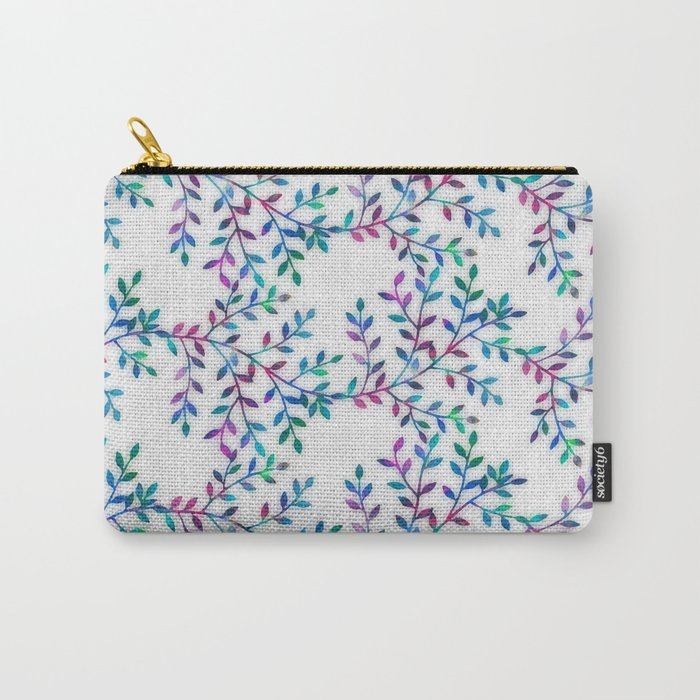 Small, Colorful Leaves 2 Carry-All Pouch