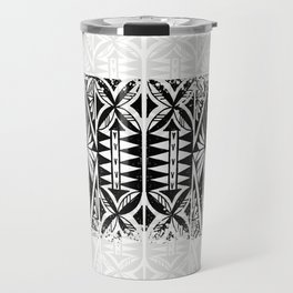 Black and white Siapo (tapa) Travel Mug