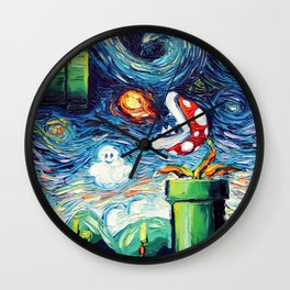 van Gogh Never Leveled Up Wall Clock