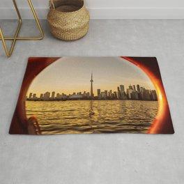 Canada Photography - Toronto Seen Through A Lifebuoy Rug