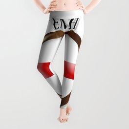 English Proud Flag Button Leggings