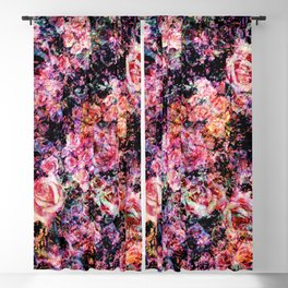 Polychromatic Roses Blackout Curtain