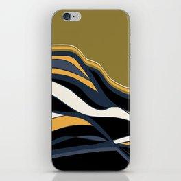 olive & navy & mustard  / minimalist iPhone Skin