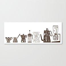 TYPOCOFFEE 2 Canvas Print
