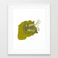Slimey Framed Art Print