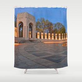 Washington DC World War II Memorial Shower Curtain