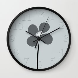 Abstract Night Flowers Wall Clock