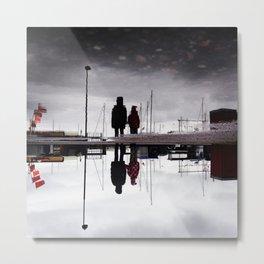 Rain Puddle Scene Metal Print