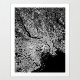 Tokyo map Art Print