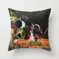 Inter-Dimensional Phone Line Throw Pillow