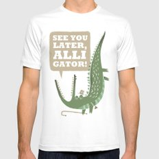 See You Later, Alligator! MEDIUM White Mens Fitted Tee