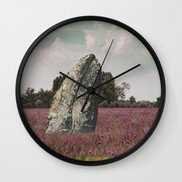 wild whale wood flower Wall Clock