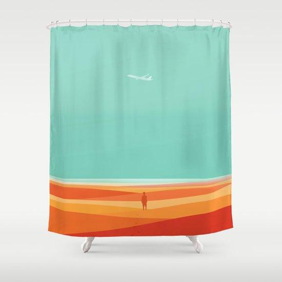 Where the sea meets the sky Shower Curtain