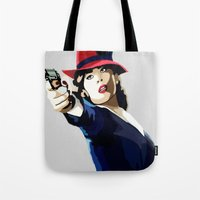 agent carter Tote Bags featuring AGENT CARTER Reporting for Duty by Danielle Aragon