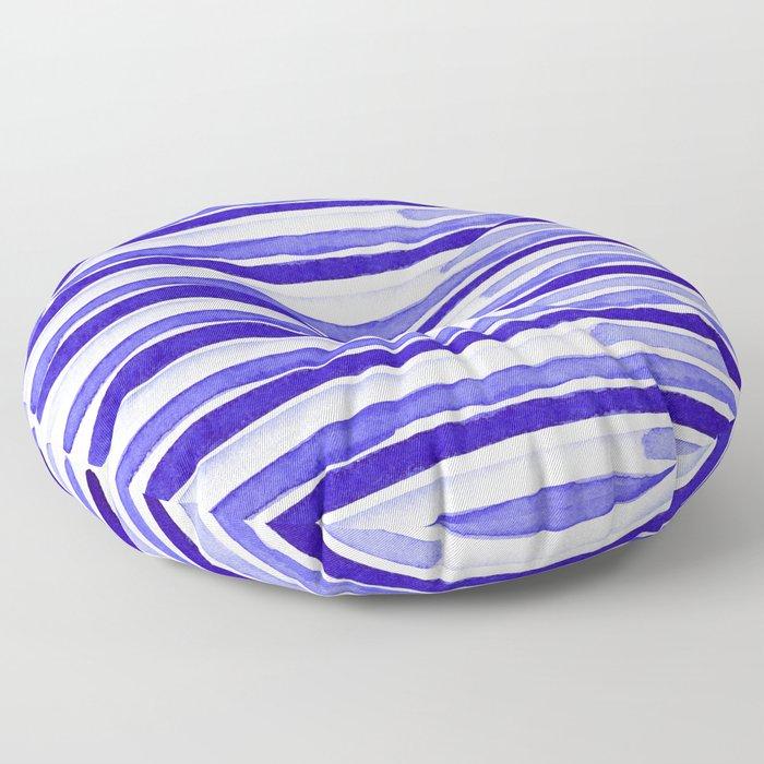 Ultra Violet Watercolour Stripes Floor Pillow