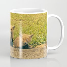 Baby Foxes Coffee Mug