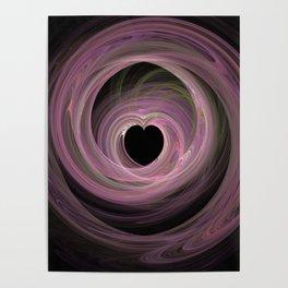 Valentine's Fractal IV - Dark Poster