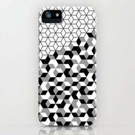 Hexagon(black) #2 iPhone Case