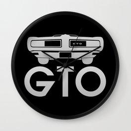Pontiac GTO - silver - Wall Clock