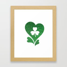 Flag Love St Patrick's Day Framed Art Print