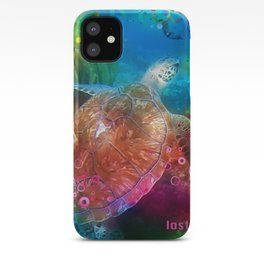 Sea Turtle In Living Color iPhone Case