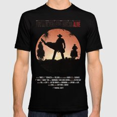 You'll never leave Harlan alive Black Mens Fitted Tee MEDIUM
