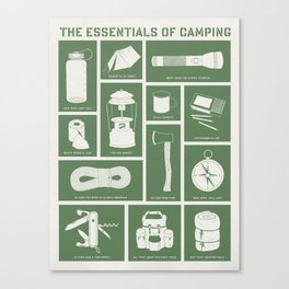 The Essentials of Camping Canvas Print