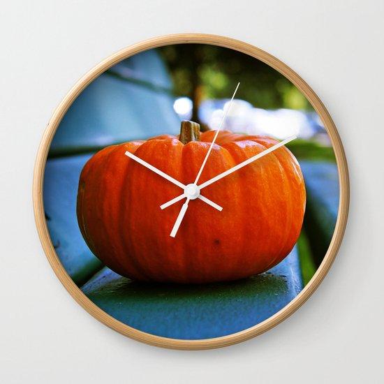 Park pumpkin Wall Clock