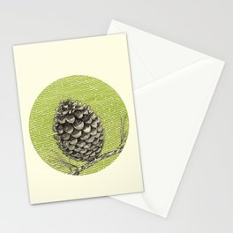 A pinecone Stationery Cards