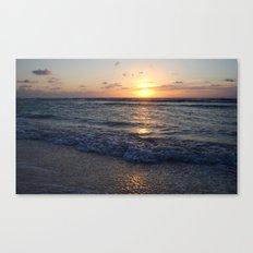 sunrise over the ocean Canvas Print
