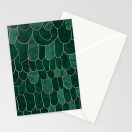 Stratosphere Emerald // Abstract Green Flowing Gradient Gold Foil Cloud Lining Water Color Decor Stationery Cards