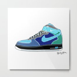 Airforce 1 Air Pop Art Sneakers 8th Edition Metal Print