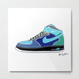 Airforce 1 Air Pop Art Sneakers 8th Edition Metal Print