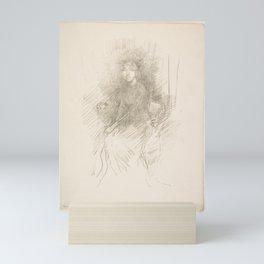 Portrait of a Young Woman (Miss Seaton) (Dorothy Seaton) Mini Art Print