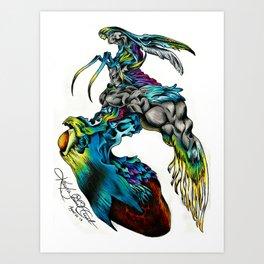 Bizarro Sephiroth Art Print