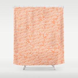 Microchip Pattern (Orange) Shower Curtain