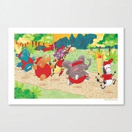 """Go the Distance"" - Safari Run Canvas Print"