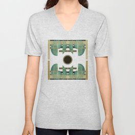 """Abstract Ships at the Sea"" Unisex V-Neck"