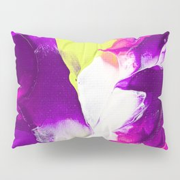 Neon purple and green paintig Pillow Sham