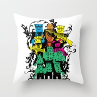 poker Throw Pillows featuring Poker Toys by elRAiSE