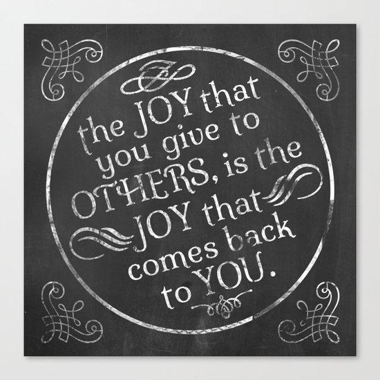 Give Joy  Canvas Print