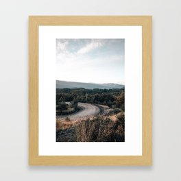 road to Cerro chapelco Framed Art Print