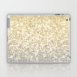 Gold and Silver Glitter Ombre Laptop & iPad Skin