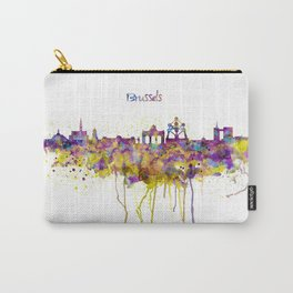 Brussels Skyline Silhouette Carry-All Pouch