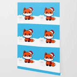 A Fox in the Snow Wallpaper