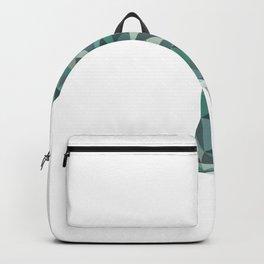 Geometric Penguin (Teal) Backpack
