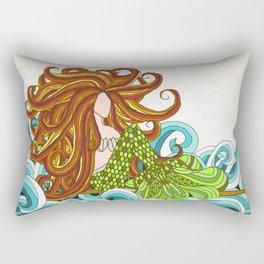 Mermaid Waves Rectangular Pillow