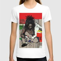 basquiat T-shirts featuring Basquiat by Helen Syron