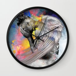 angel male nude Wall Clock