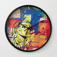 texas Wall Clocks featuring Texas by Asher Feehan